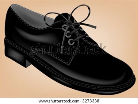 black shoe - stock vector