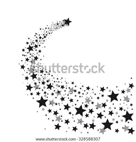 Black Shooting Star - stock vector