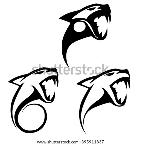 Panther Head Silhouette Vector
