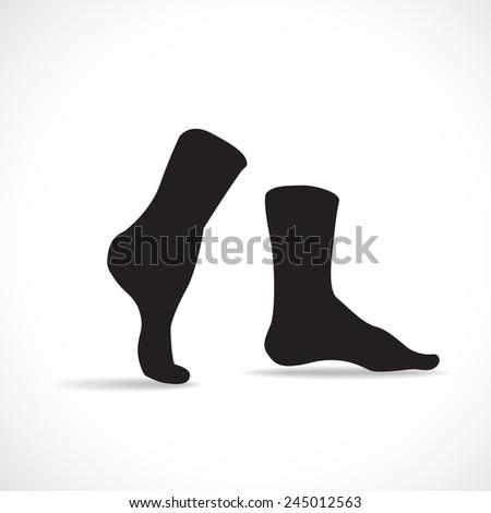 Black socks, silhouette illustration - stock vector