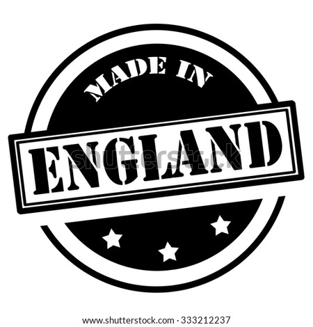 Black stamp with text Made in England,vector illustration - stock vector