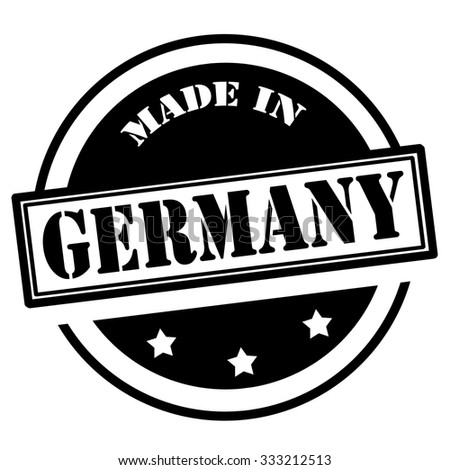 Black stamp with text Made in Germany,vector illustration - stock vector