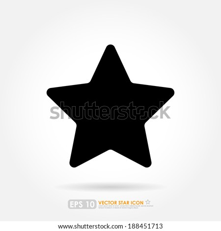 Black star icon - isolated - stock vector