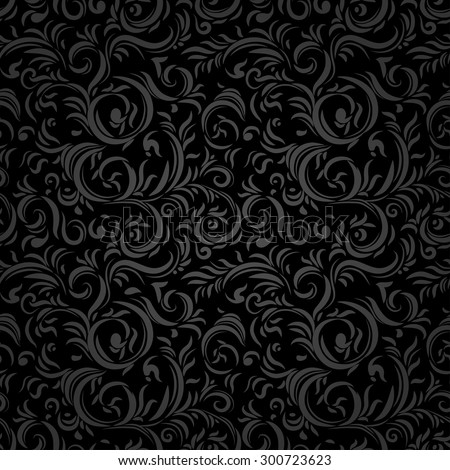 Black stylized seamless pattern. Holiday background. - stock vector