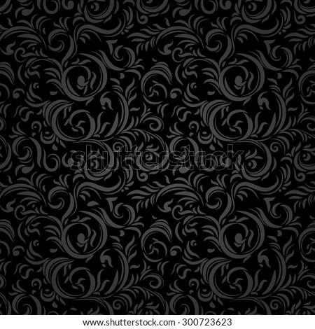 Black stylized seamless pattern. Holiday background. - stock vector