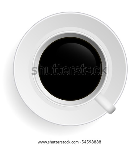 Black Tea Coffee Vector - stock vector