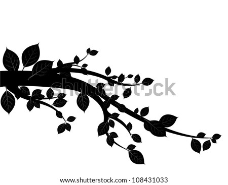 black tree vector. - stock vector