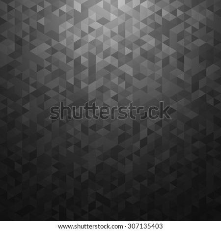 Black vector abstract background. - stock vector