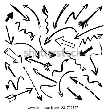 black vector arrows - stock vector
