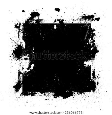 Black Vector Grunge Shape - stock vector
