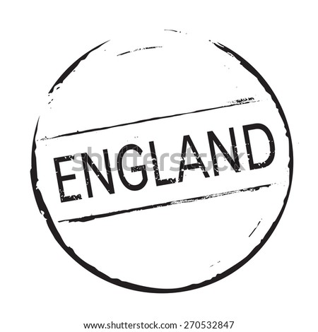 Black vector grunge stamp ENGLAND - stock vector