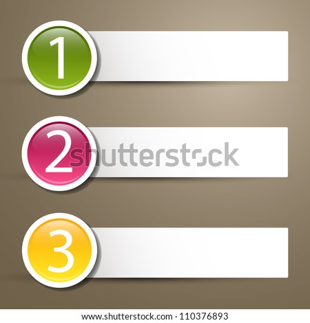 Black vector labels with numbers - stock vector