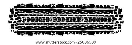 Black vector skidmarks, black tracks from a car - stock vector