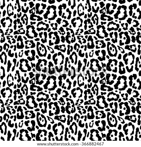 Black white leopard or jaguar seamless pattern design, vector illustration background - stock vector