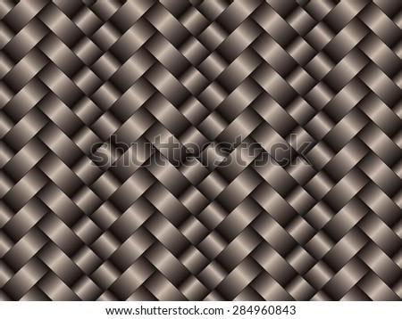 Black woven carbon fibre texture pattern background - stock vector