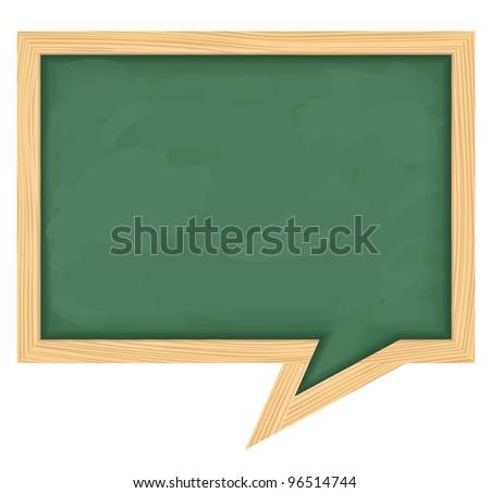 Blackboard shaped as speech bubble, vector eps10 illustration - stock vector