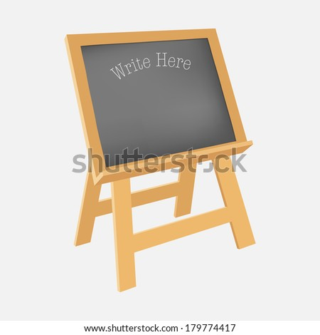 Blackboard stand, illustration vector design. - stock vector