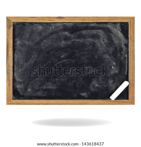 blackboard. Vector Illustration. - stock vector