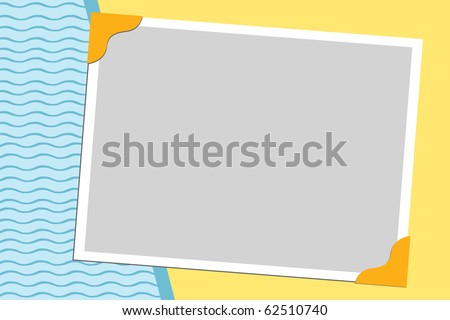 Blank background for greetings card, postcard or photo frame (EPS10) - stock vector