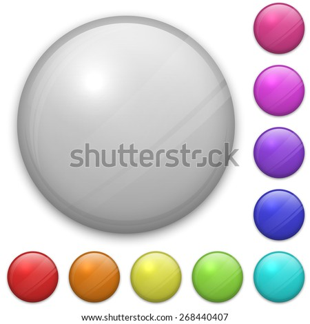 Blank badge template isolated on white background. EPS10 vector layered file, easy adjustable. - stock vector