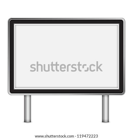 Blank billboard - stock vector