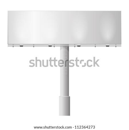 Blank billboard illustration - stock vector