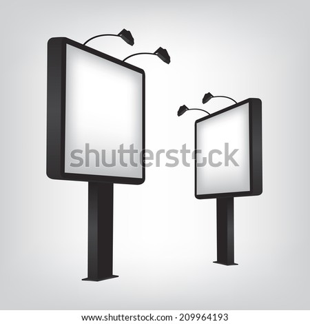 Blank billboard illustration - stock vector
