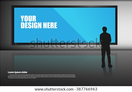 Blank billboard template - stock vector