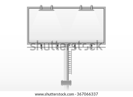 Blank billboard, vector illustration - stock vector