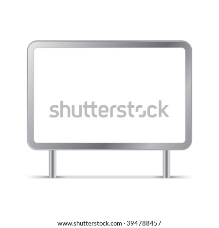Blank billboards and outdoor advertisement templates isolated.  - stock vector