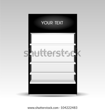 blank black Shelf cabinet - stock vector