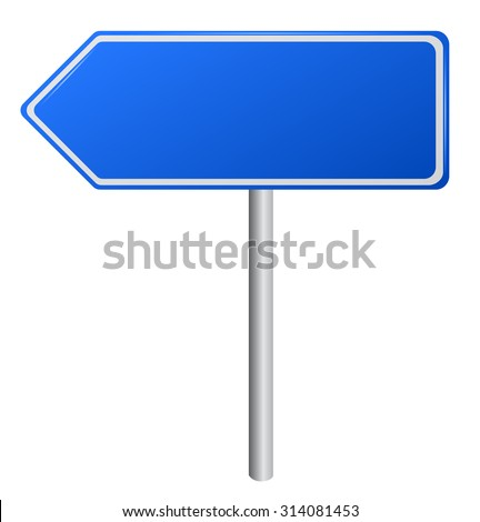 Blank Blue  Road Signs, illustration. vector - stock vector