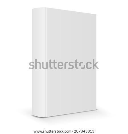 Blank book cover back. Vector illustration - stock vector