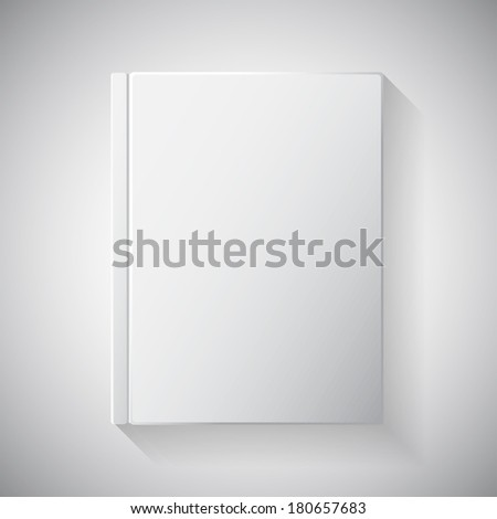 Blank book cover. Blank magazine template on light background with soft shadows. Vector illustration. EPS10. Blank book cover vector illustration gradient mesh. Isolated object for design and branding - stock vector