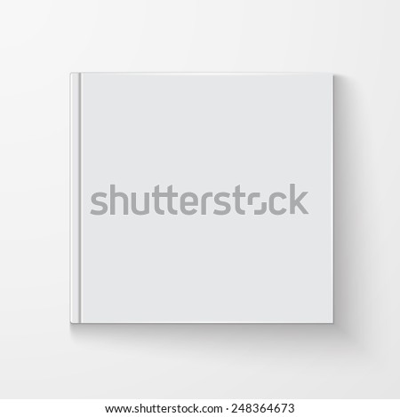 Blank book cover, excellent vector illustration, EPS 10 - stock vector