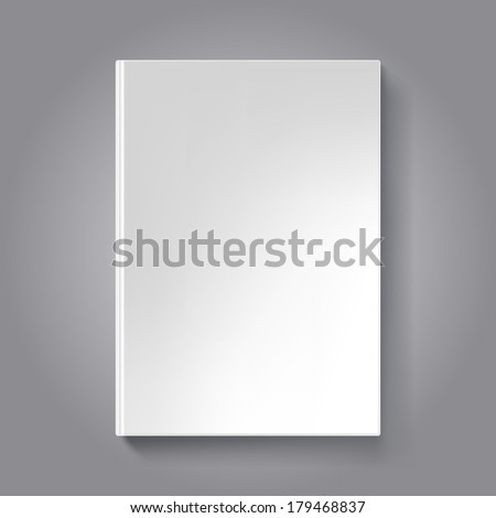 Blank book cover template. Book isolated on dark background. - stock vector