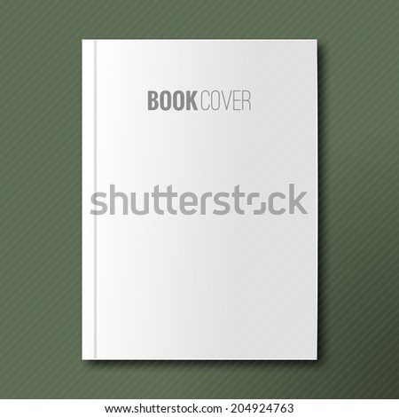 Blank book cover vector illustration gradient mesh. Isolated object for design and branding - stock vector