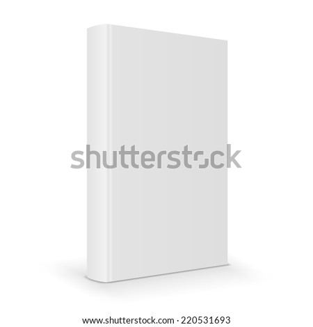 Blank book cover with spine. Vector illustration - stock vector