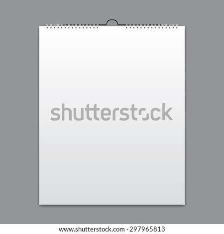 Blank calendar, card design - stock vector
