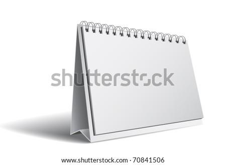 Blank calendar isolated on white - stock vector