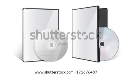 Blank case and disk - stock vector