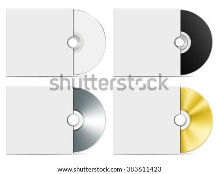 Blank CD or DVD advertising vector template - stock vector