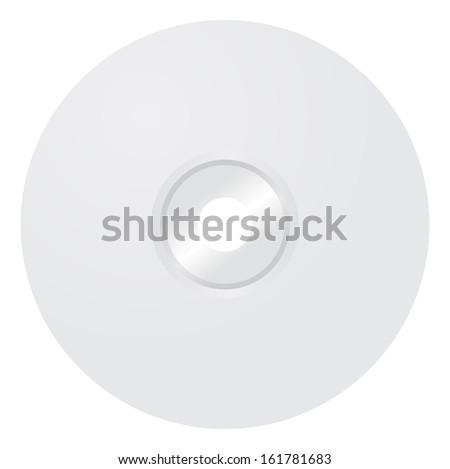 blank cd template - stock vector
