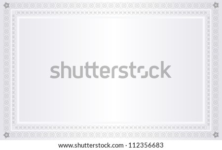 Blank Certificate. Jpeg Version Also Available In Gallery. - stock vector