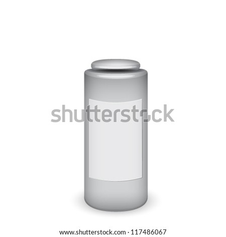 Blank cosmetic container - stock vector