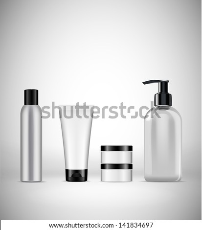 blank cosmetics packaging - stock vector