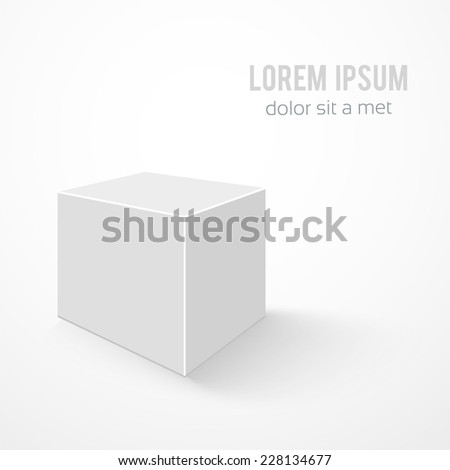 Blank 3d box on background - stock vector
