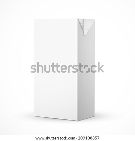 blank drink carton package isolated over white background - stock vector