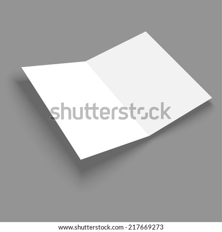 Blank empty magazine or book or booklet, brochure template  on a gray background. vector. catalog - stock vector