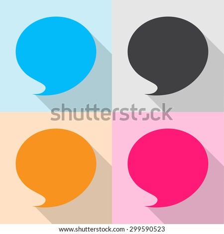 Blank empty speech bubbles icons set great for any use. Vector EPS10. - stock vector